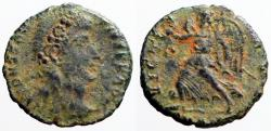 Ancient Coins - Constantius II AE3 Victory adv w. wreath & palm