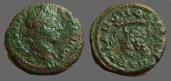 Ancient Coins - Caracalla AE17 Marcianopolis, Moesia Inferior.  Grapes