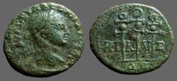 Ancient Coins - Severus Alexander AE19, Nicaea, Military Standards