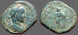 Ancient Coins - Volusion AE29 Sestertius.  Concordia stg w. cornucopia & patera