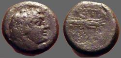 Ancient Coins - Sicily, Kentorpai AE15 tetrachalkon.  Zeus / Thunderbolt
