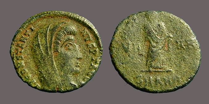 Ancient Coins - Constantine I The Great AE4 Constantine veiled and standing right