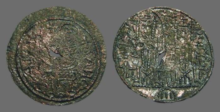 Ancient Coins - Hungary, Bela III.1172-1196 - AE27 Cupped Denar
