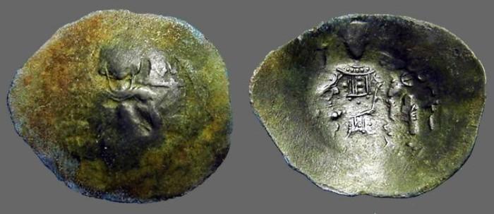 Ancient Coins - Isaac II, Angelus 1185-1195 AD Aspron Trachy