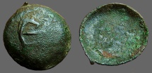 Ancient Coins - Bulgaria. Ivan and Theodora AE18 trachy.