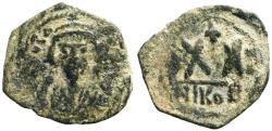 Ancient Coins - Phocas half follis AE23 Nikomedia