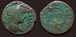 Ancient Coins - Severus Alexander AE23 Samaria, Caesarea