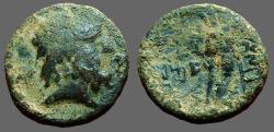 Ancient Coins - Phoenicia, Marathos AE20 2nd Cent. B.C. Zeus / Double Cornucopia