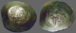 Ancient Coins - Isaac II, Angelus 1185-1195 AD AE30 Aspron Trachy