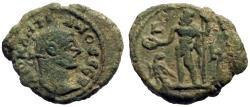 Ancient Coins - Diocletian AE18 potin tetradrachm.  Zeus w. patera & scepter.  Alexandria, Egypt