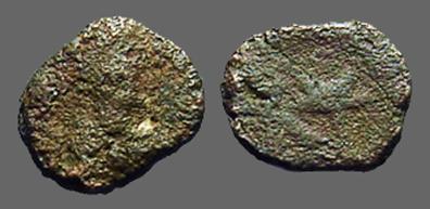 Ancient Coins - Anastasius I AE8 Nummus.  Monogram