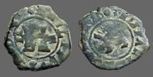 Ancient Coins - Philip III AE 2 maravedis.  Castle / rampant lion.  1603.  Segovia Mint