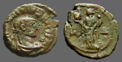 Ancient Coins - Maximianus Billon tetradrachm.  Alexandria holds hd of Sarapis & scepter.