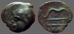 Ancient Coins - Bosporos, Pantikapeion AE17 Pan / Bow, arrow