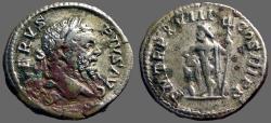 Ancient Coins - Septimius Severus AR Denarius.  Neptune w. trident