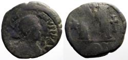 Ancient Coins - Justinian I AE31 Follis.1 star, 2 cross. Constantinople