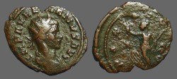 Ancient Coins - Aurelian billon antoninianus  PAX AVGVSTI.  Pax walking w. branch, scepter