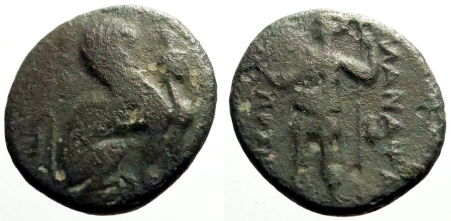Ancient Coins - Pamphylia, Perge  AE16 Sphinx / Artemis