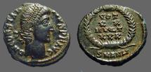 Ancient Coins - Constantius II AE4 Vow in wreath.  Antioch