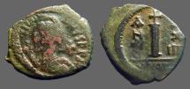 Ancient Coins - Maurice Tiberius AE21 Decanummium. Antioch