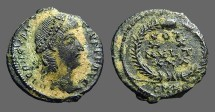 Ancient Coins - Constantius II AE3/4 Vows in wreath. Antioch