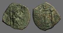 Ancient Coins - Constans II AE Follis. Constans / Constantine IV, Heraclius, Tiberius.