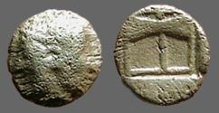 Ancient Coins - Troas, Tenedos AR Obol.  Philomene / Incuse