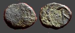 Ancient Coins - Anastasius I AE7 Nummus.  Bust rt / Monogram of Anastasius