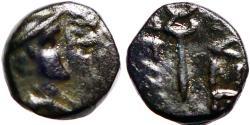 Ancient Coins - Cappadocia, Eusebeia-Caesarea. AE9  Hermes w. petasos / Kerykeion