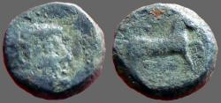 Ancient Coins - Seleukid Kings, Antiochos III AE13 Apollo / Horse stepping rt
