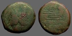 Ancient Coins - Roman Republic AE32 as  Janus / Galley Prow