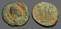 Ancient Coins - Arcadius AE3/4 Honorius, Arcadius, Theodosius I stg side by side. Antioch, Turkey.