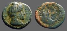 Ancient Coins - Aretas IV AE17. Monogram of Aretas IV within wreath.  9BC-40AD.