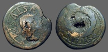 Ancient Coins - Augustus AE27 as of Turiaso, Tarazona (Zaragoza).
