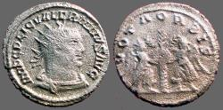 Ancient Coins - Valerian I billon Antoninianus. Victory either side of palm tree