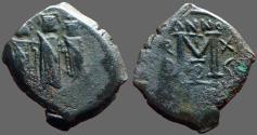 Ancient Coins - Heraclius AE23 follis, Heraclius, Heraclius Constantine, Empress Martina.