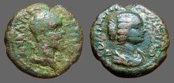 Ancient Coins - Septimius Severus & Julia Domna AE17 Nikoplis ad Istrum M.I.