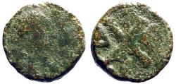 Ancient Coins - Justin I AE pentanummium  Chi-Rho Constantinople.