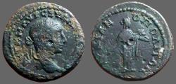 Ancient Coins - Severus Alexander AE19 Marcianopolis, M.I. Hygeia feeds serpent
