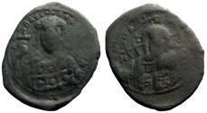 Ancient Coins - Constantine X AE28 Follis. Christ. Constantinople