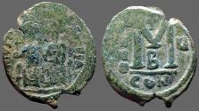 Ancient Coins - Justin II & Sophia AE29 Follis.  Constantinople. year 5.