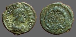 Ancient Coins - Gratian AE4 Vows in wreath. VOT/XV/MVLT/XX.  Constantinople