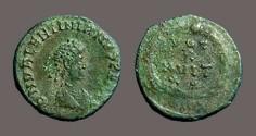 Ancient Coins - Valentinian II AE4 Vows in wreath,  VOT/X/MVLT/X X