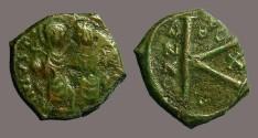 Ancient Coins - Justin & Sophia 1/2 follis.  Thessalonica