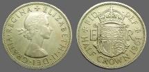 Great Britain Queen Elizabeth II 32mm Half Crown.  1961