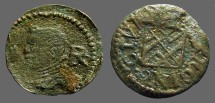 Ancient Coins - Barcelona Philip III Ardite AE17 Ardite. emergency coinage