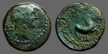 Ancient Coins - Cilicia, Seleukeia ad Calycadnum. AE19 Apollo / forepart of Horse