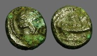 Ancient Coins - Phoenicia AE10 Hd of Herakles / Galley