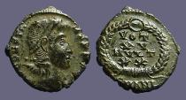 Ancient Coins - Constans AE4 Vows in wreath. VOT/XV/MVLT/XX.  Antioch, Turkey.