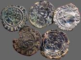 World Coins - 5 hammered billon coin of Spain